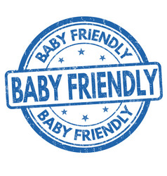 Baby friendly grunge rubber stamp vector