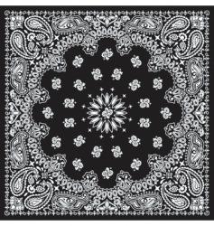 bandana black vector image
