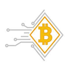 bitcoin digital currency and financial vector image