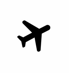 black plane icon vector image