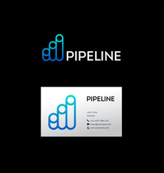 Blue pipeline logo vector