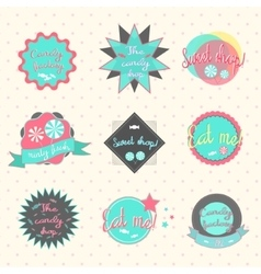 Candy labels pastry shop vector