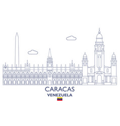 caracas city skyline vector image