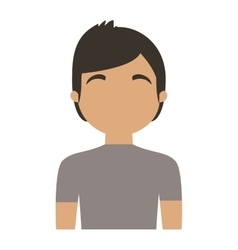 character man young casual vector image