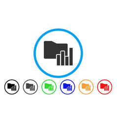 Charts folder rounded icon vector