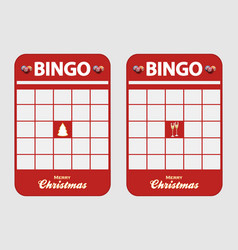 Christmas festive blank decorated bingo cards vector