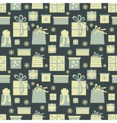 christmas presents pattern vector image