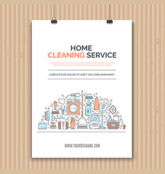 cleaning concept vector image