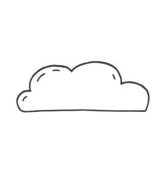 cloud sketch cloud doodle on vector image