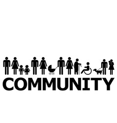 community concept with people pictograms vector image