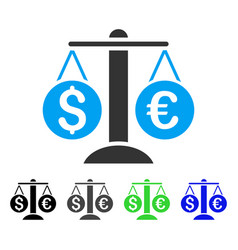 Currency balance flat icon vector