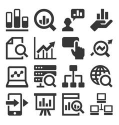 data analysis icons set on white background vector image