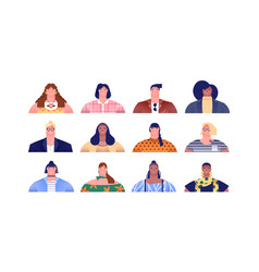 diverse women people or mom cartoon set isolated vector image