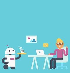 Domestic robot concept vector
