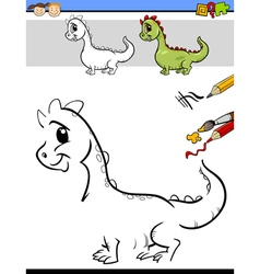 drawing task for preschool kids vector image