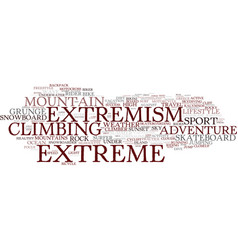 extremism word cloud concept vector image