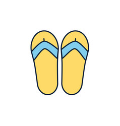 Flip flops summer icon line and fill vector