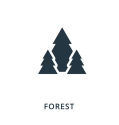 forest icon flat style icon design ui vector image