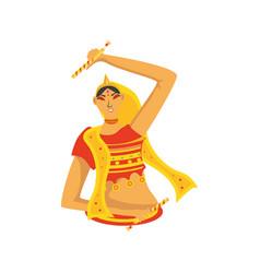 Goddess durga on white background vector