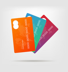 gradient credit card with vector image