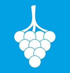 Grapes on the branch icon white vector