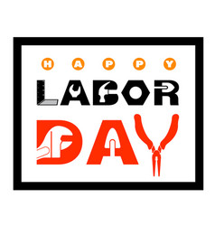 happy labor day banner vector image