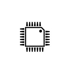 hardware processor chip flat icon vector image