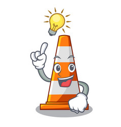 have an idea on traffic cone against mascot argaet vector image