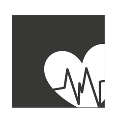 heart cardio pulse isolated icon vector image