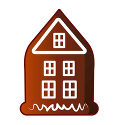 House gingerbread icon cartoon style vector