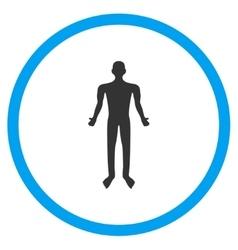 Human body icon vector