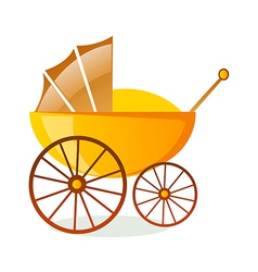Icon baby carriage vector