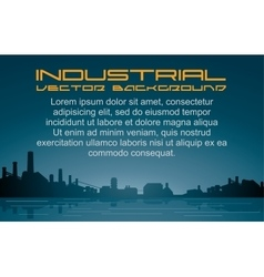 Industrial Background Cityscape vector image