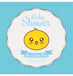 Kawaii duck Baby Shower design graphic vector