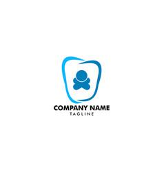 kids dental logo template vector image