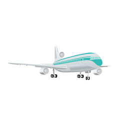 Large passenger jet airliner realistic white vector