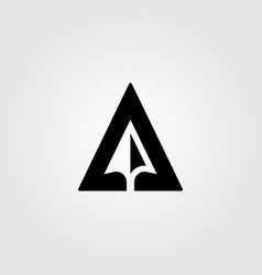 letter a creative arrow negative space logo design vector image
