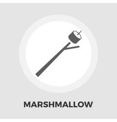 Marshmallow icon flat vector