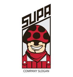 mushroom man logo vector image