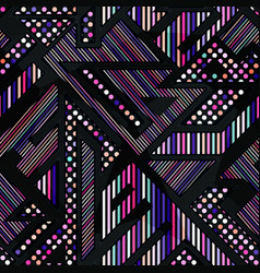 Neon color geometric seamless pattern vector