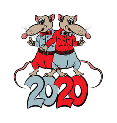new 2020 year happy holiday vector image