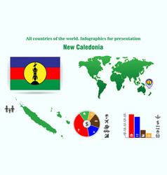 new caledonia all countries of the world vector image