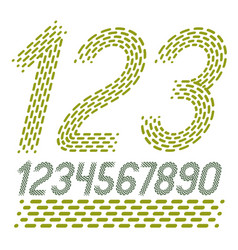 Numbers modern numerals set rounded bold italic vector