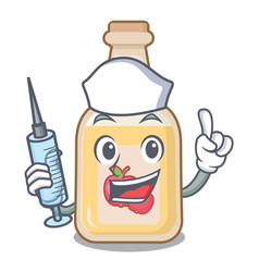 Nurse apple cider isolated with mascot vector