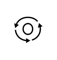 O letter recycle logo icon vector