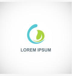 organic green leaf abstract logo vector image
