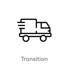 Outline transition icon isolated black simple vector