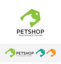 pet shop logo design vector image