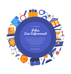 Police law enforcement - flat design style vector