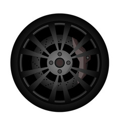 Rally car rim icon vector